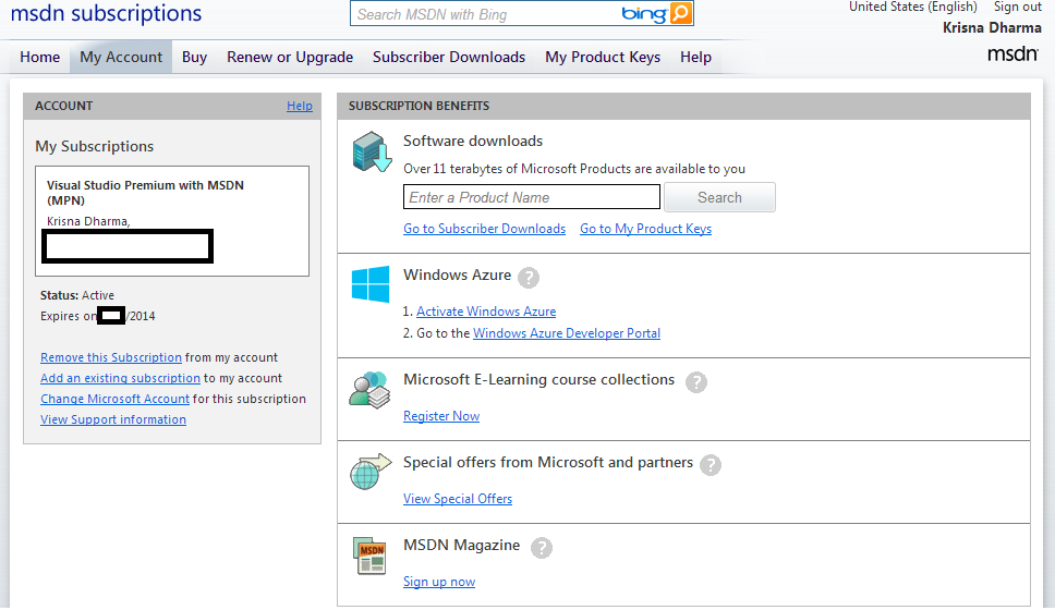 MSDN subscription benefits - Office 365 Developer Subscription