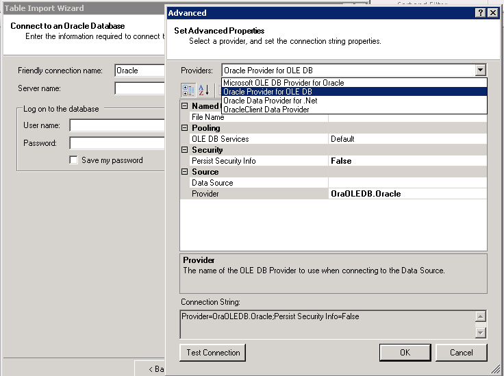 Oracle olap 11g reporting in excel using simba mdx ole-db provider.