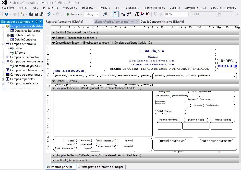 crystal report formatos para facturas o recibos en crystal report 2012
