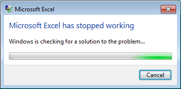 """microsoft excel has stopped working  Excel crashes with """"Microsoft Excel has stopped working"""" whilst ..."""
