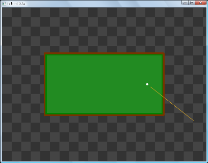 Screen shot of a program Billiard 0.1b