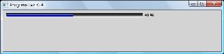 Screen shot of a program Progress Bar 0.4