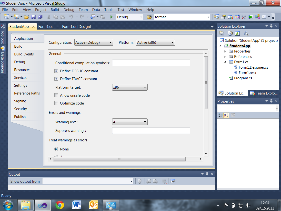 How Do I Access The Build Configuration In Ssdt Ie Ssis 2012