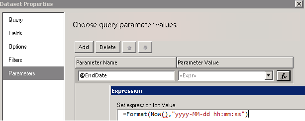Hide the time in date parameter in ssrs report