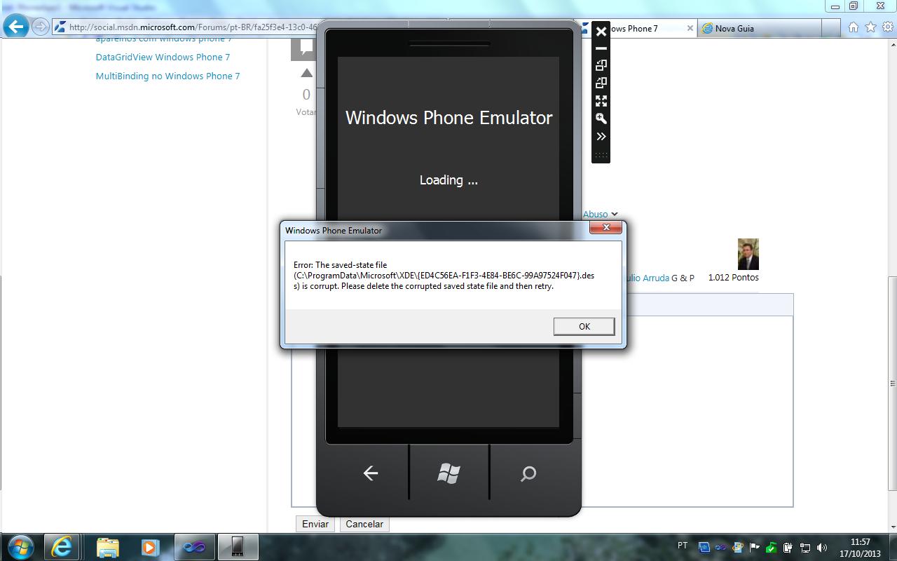 Erro Winn Phone 7