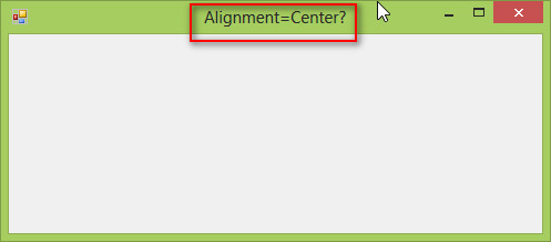 Alignment of Windows form text property