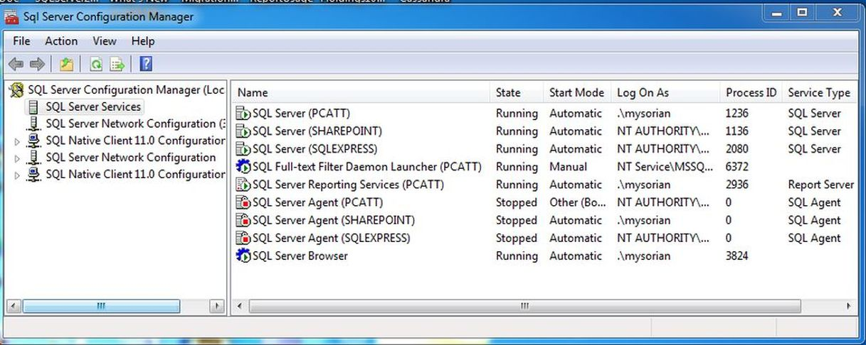 how to run sql server configuration manager