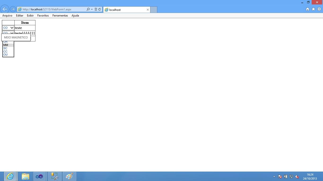 Imagem Grid com drop Tooltip