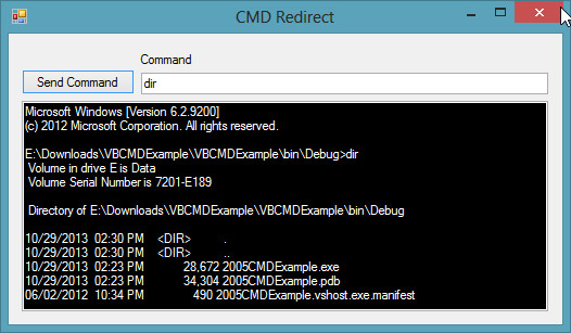 How To Run Cmd From Vb Net
