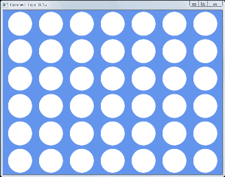 Screen shot of a program Connect Four 0.1a