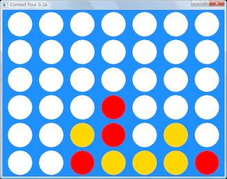 Screen shot of a program Connect Four 0.2a