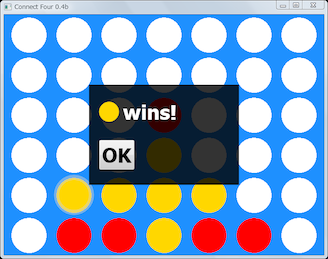 Screen shot of a program Connect Four 0.4b