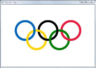 Screen shot of a progam Olympic Flag
