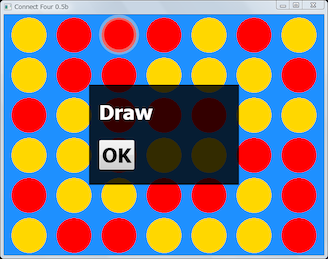 Screen shot of a program Connect Four 0.5b