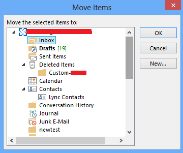 how to see recently moved folders