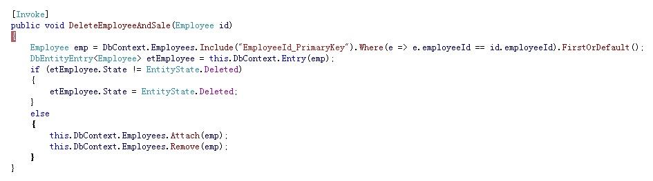 这是Domain Services 里面写的代码