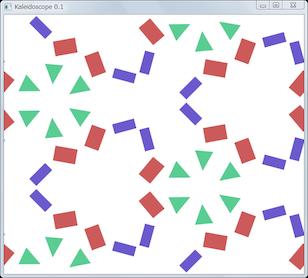Screen shot of a program Kaleidoscope 0.1