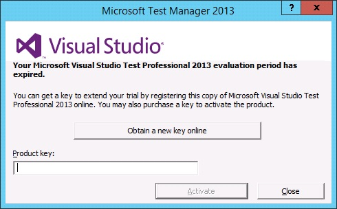 Your Microsoft Visual Studio Test Professional 2013