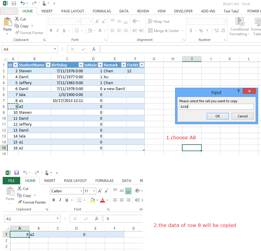 Excel VBA code to open file dialogue box to import another