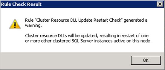 Cluster check during SQL upgrade