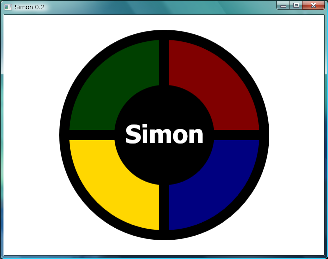 Screen shot of a program Simon 0.2