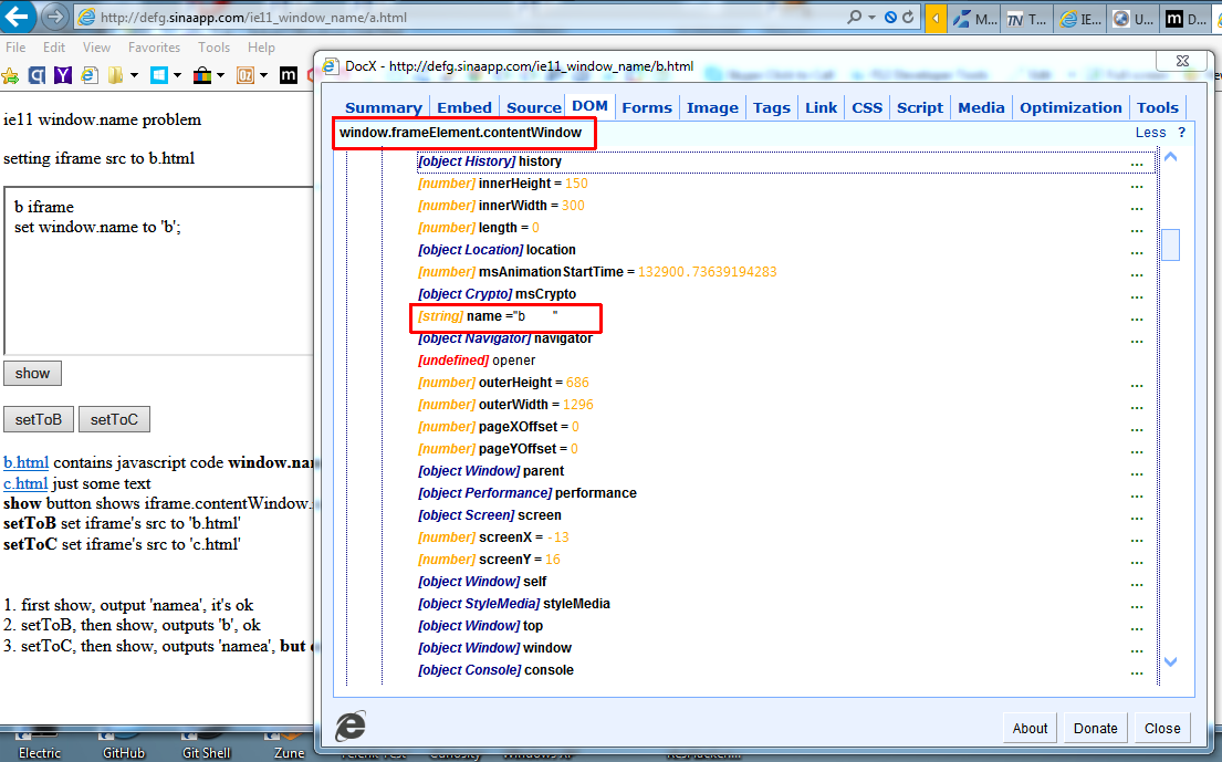 IE11 window name is reset to the original after every load