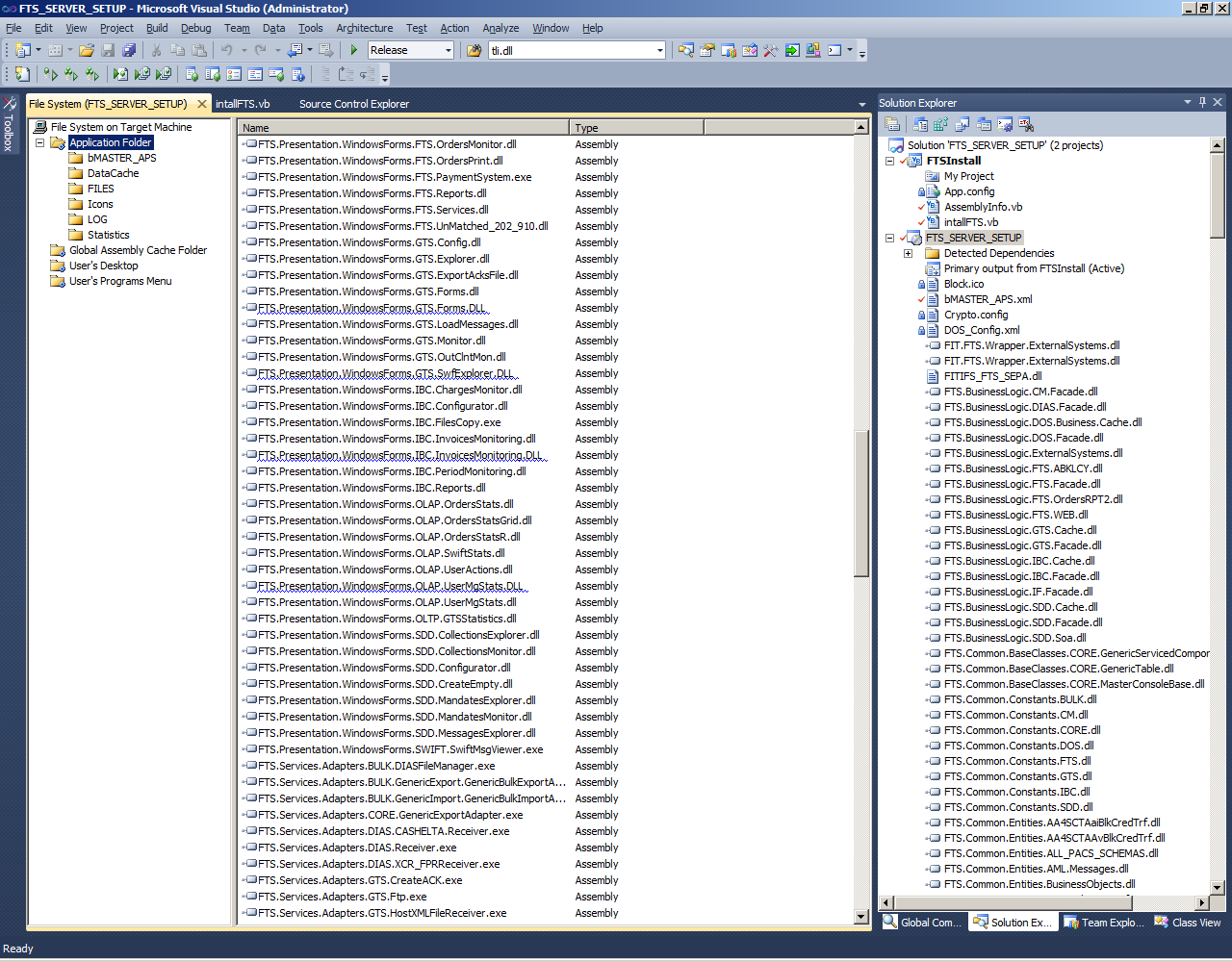 Curly underlined duplicate dlls added by Visual Studio
