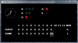 Screen shot of a program Baseball Scoreboard 0.1
