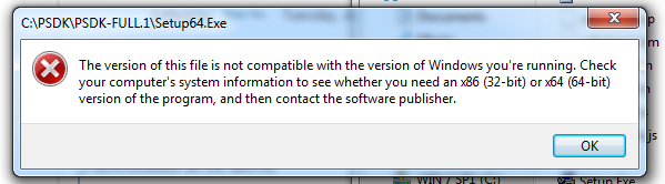 this error when i run the Setup64.exe