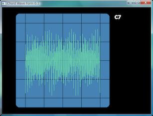Screen shot of a program Chord Wave Form 0.1