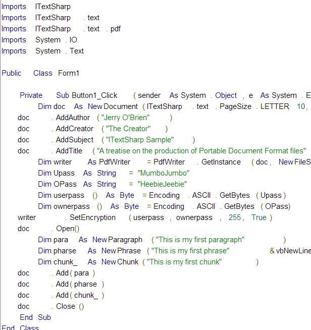Password Protected PDF using iTextSharp