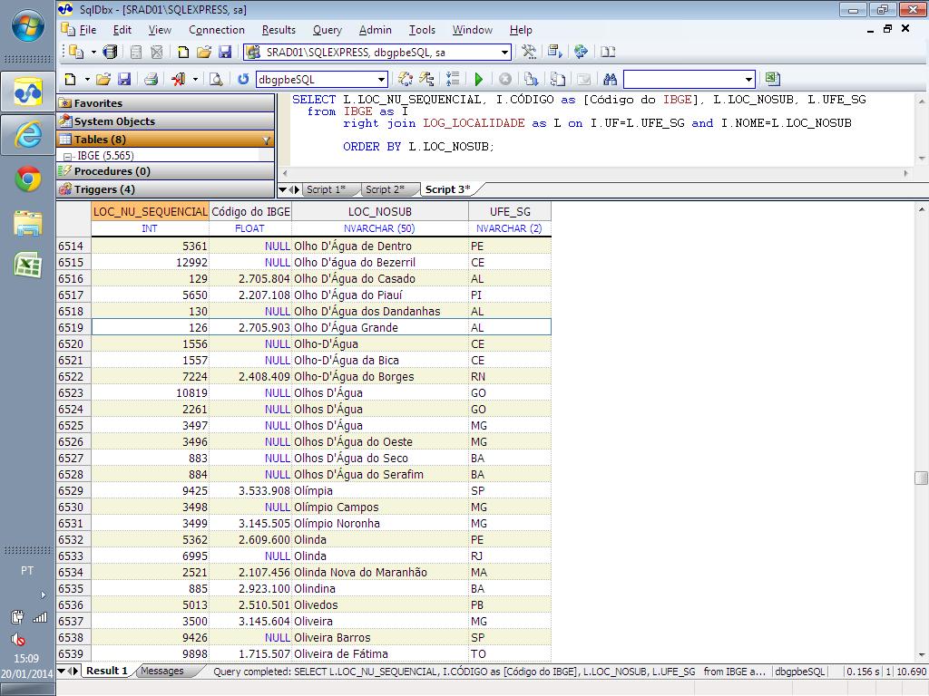 Salve... o SQL