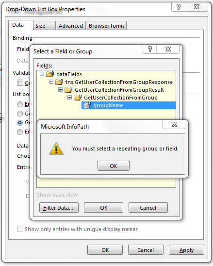 Specific Groups: Populate A Dropdown With Users Of A Specific Sharepoint