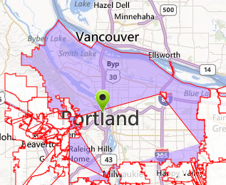 Portland City after plotting