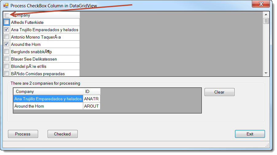 how to use datagridview checkbox for updating datatable