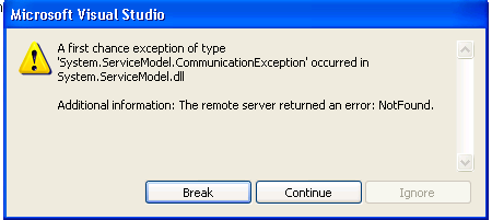LightSwitch exception 1