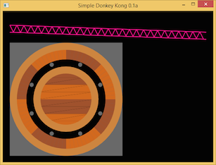 Screen shot of a program Simple Donkey Kong 0.1a
