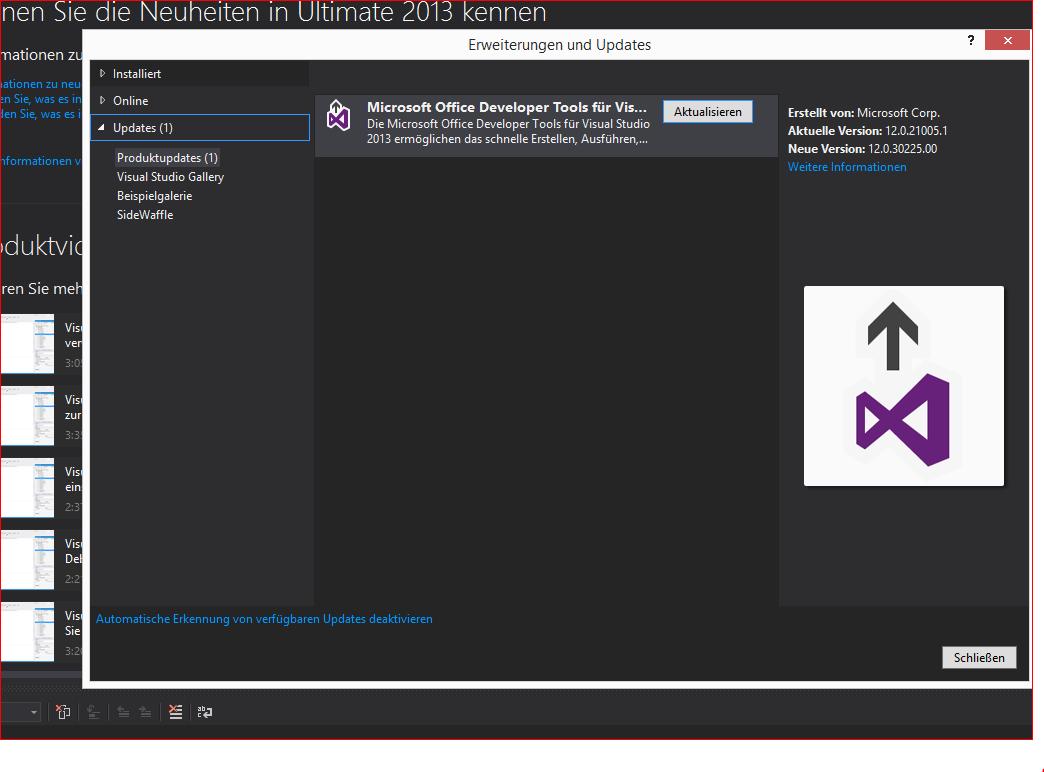 VS 2013 Ult Update is working again