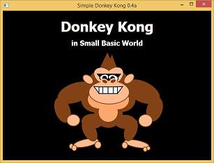 Screen shot of a program Donkey Kong in Smal Basic World 0.4a