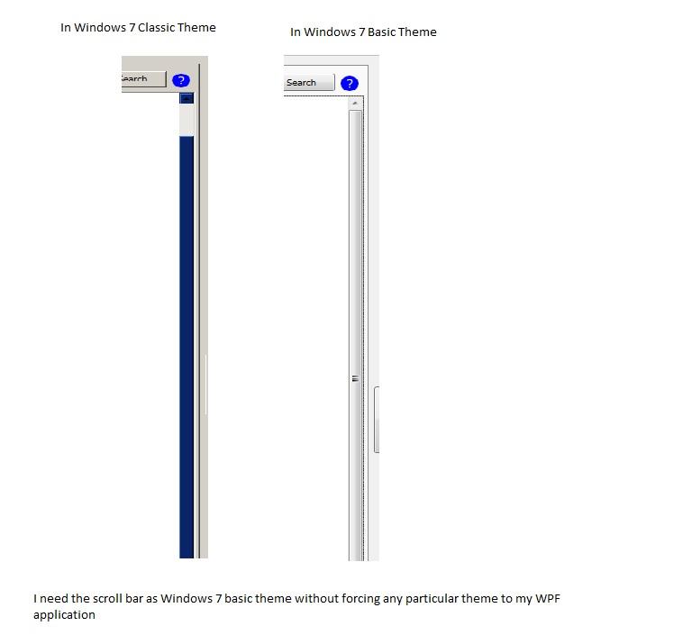 Scrollviewer scrollbar style wpf