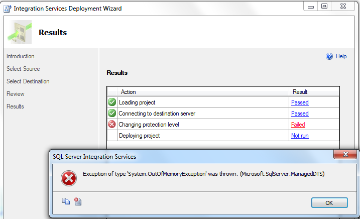 SSIS 2012 Project Deployment Wizard