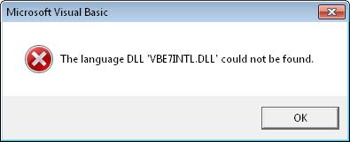 et installer vb6fr.dll