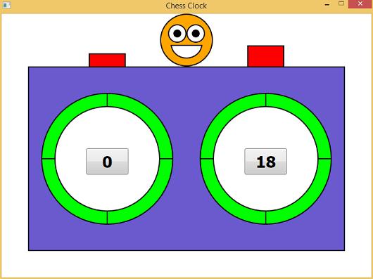 Screen shot of a program Chess Clock