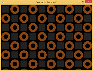 Screen shot of a program Geometric Pattern 0.1