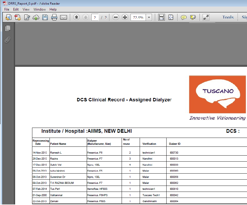 How to make column headers in table in PDF report appear