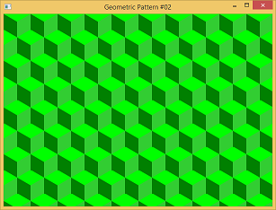 Screen shot of a program Geometric Pattern #02