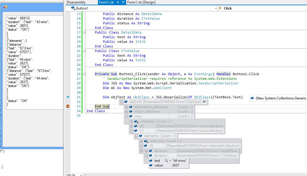 Vb Net Deserialize Json To Dynamic Object