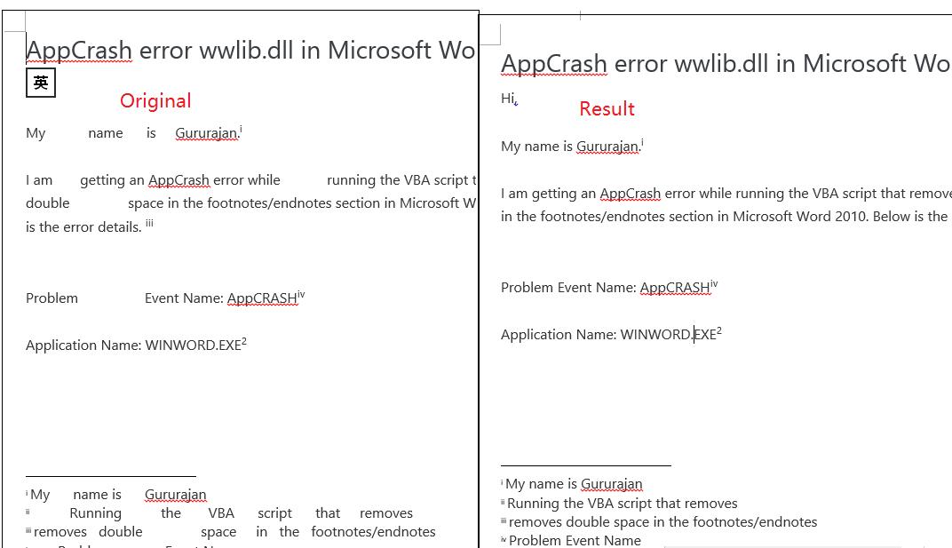 AppCrash error wwlib dll in Microsoft Word 2010