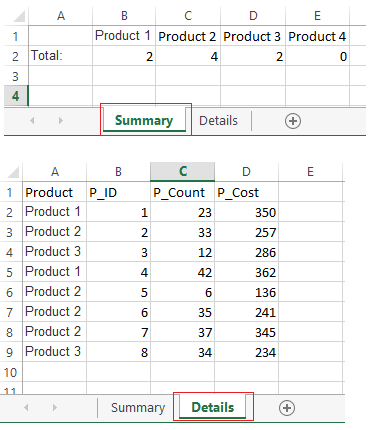 How to link summary total report to details in Excel