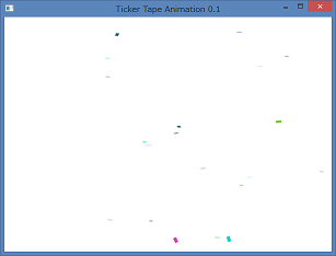 Screen shot of a program Ticker Tape Animation 0.1